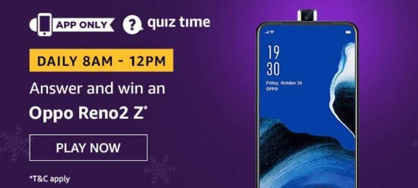 Amazon-Quiz-Oppo-Reno2-Z