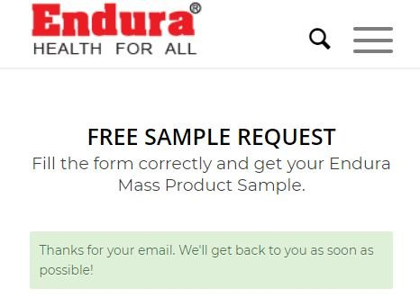 Endura Mass Sample Confirm